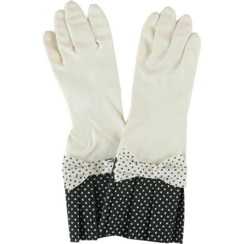 環境美装 ゴム手袋 ラブグローブ ホワイトドット W-WD