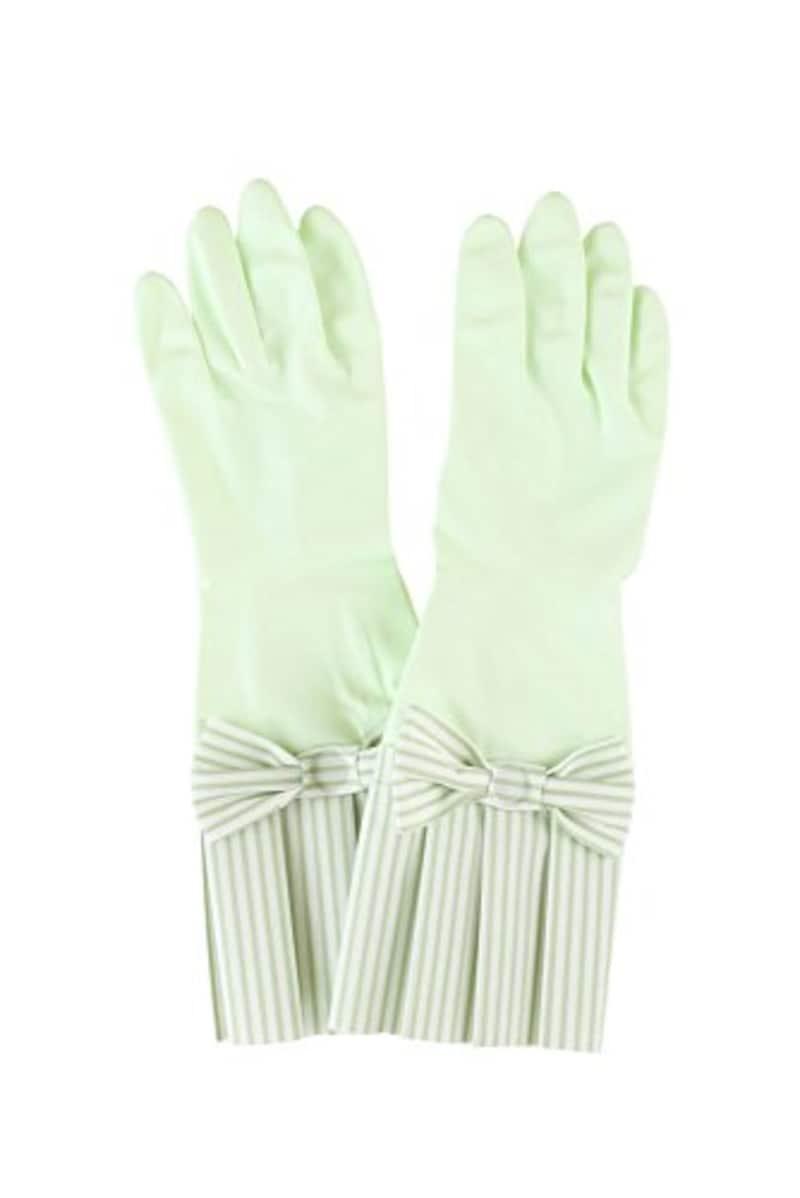 環境美装 ゴム手袋 ラブグローブ グリーンストライプ G-GS