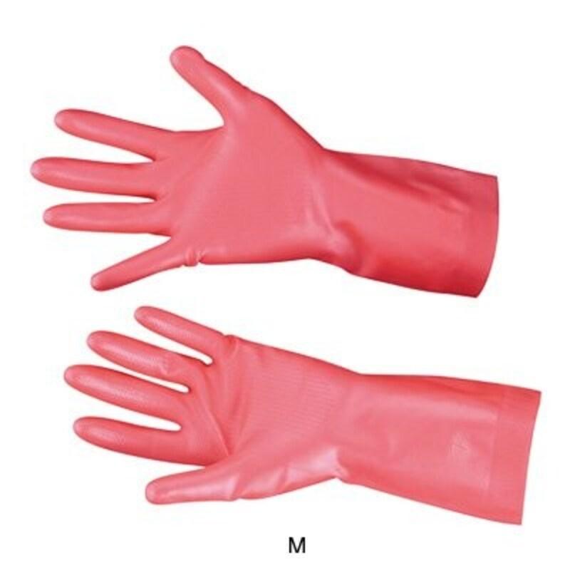 ダンロップ リッチネ うす手 手袋 ( 天然ゴム・裏毛付) S 06708 全長30cm <ピンク>