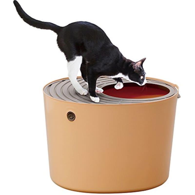 アイリスオーヤマ ,上から猫トイレ オレンジ,PUNT-530