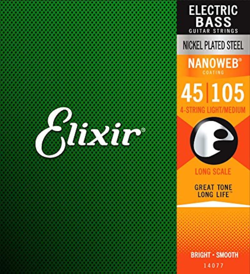 Elixir,ベース弦 NANOWEB ニッケル Long Scale Light/Medium .045-.105 #14077 【国内正規品】