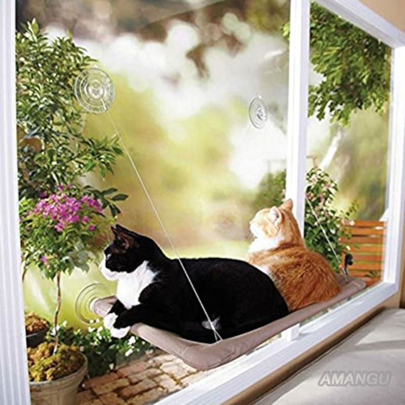 fengjida ,窓に付けられる猫ハンモック
