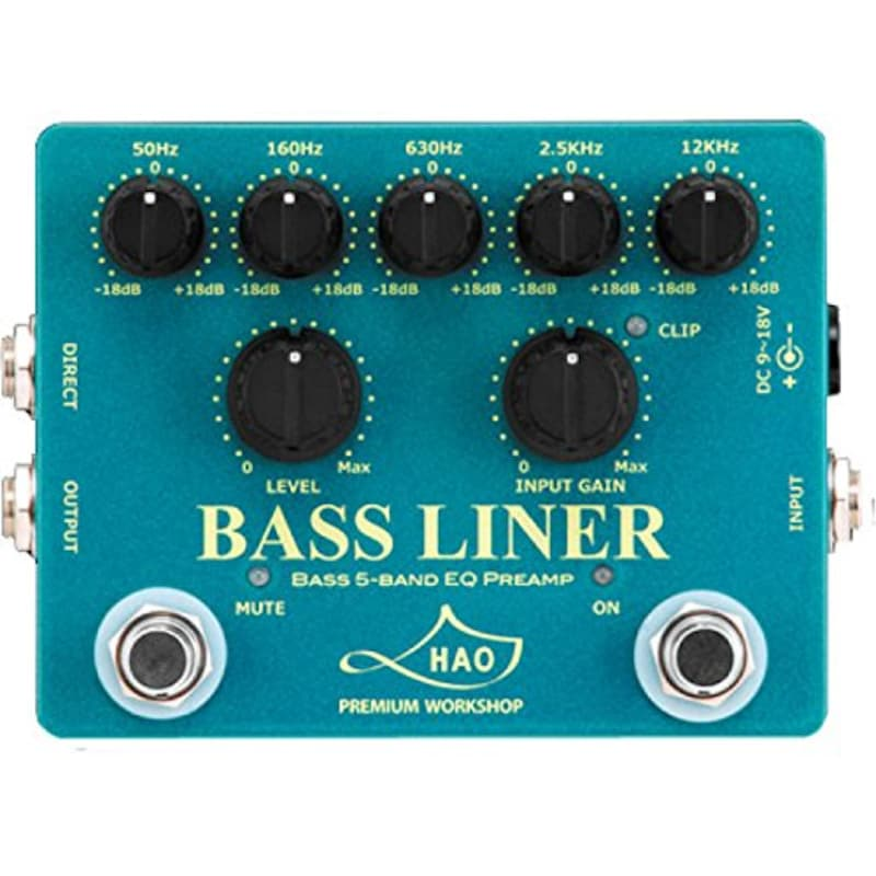 HAO,BL-1 BASS LINER BASS 5-BAND EQ PREAMP ベースプリアンプ