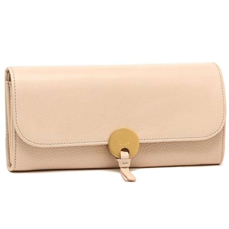 CHLOE ,INDY LONG WALLET WITH FLAP 長財布 CEMENT PINK [並行輸入品]