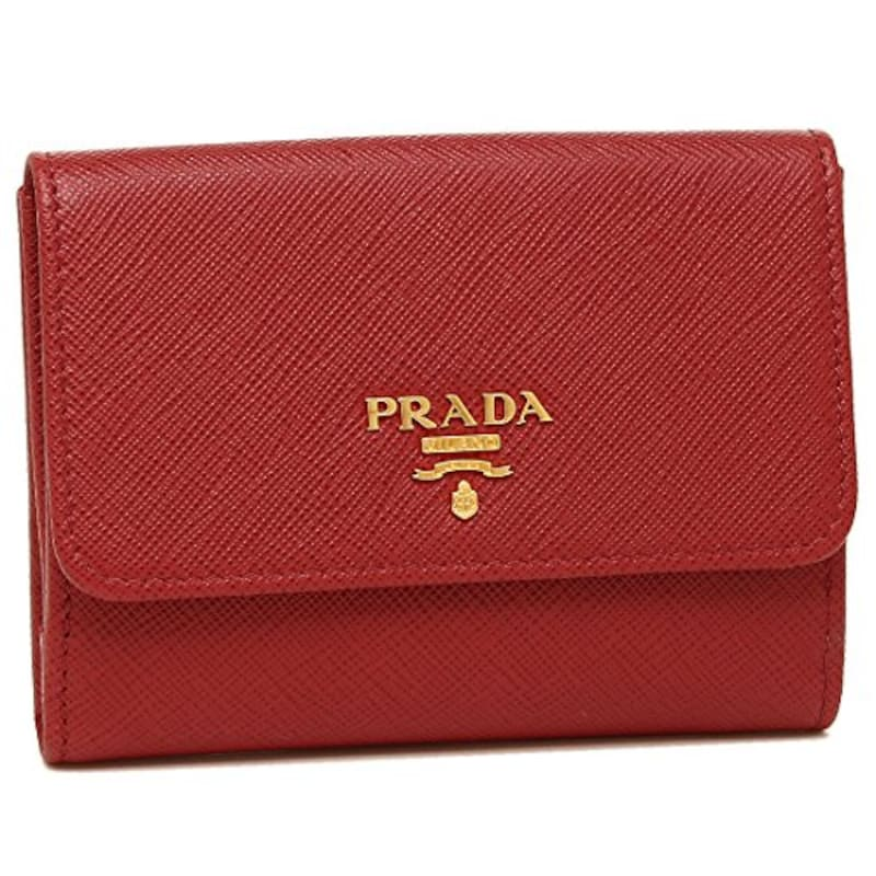 PRADA(プラダ),二つ折り財布 1MH523 SAFFIANO METAL ORO