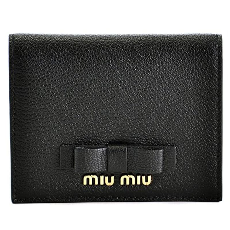 MIU MIU(ミュウミュウ),マドラス リボン ミニ二つ折り財布