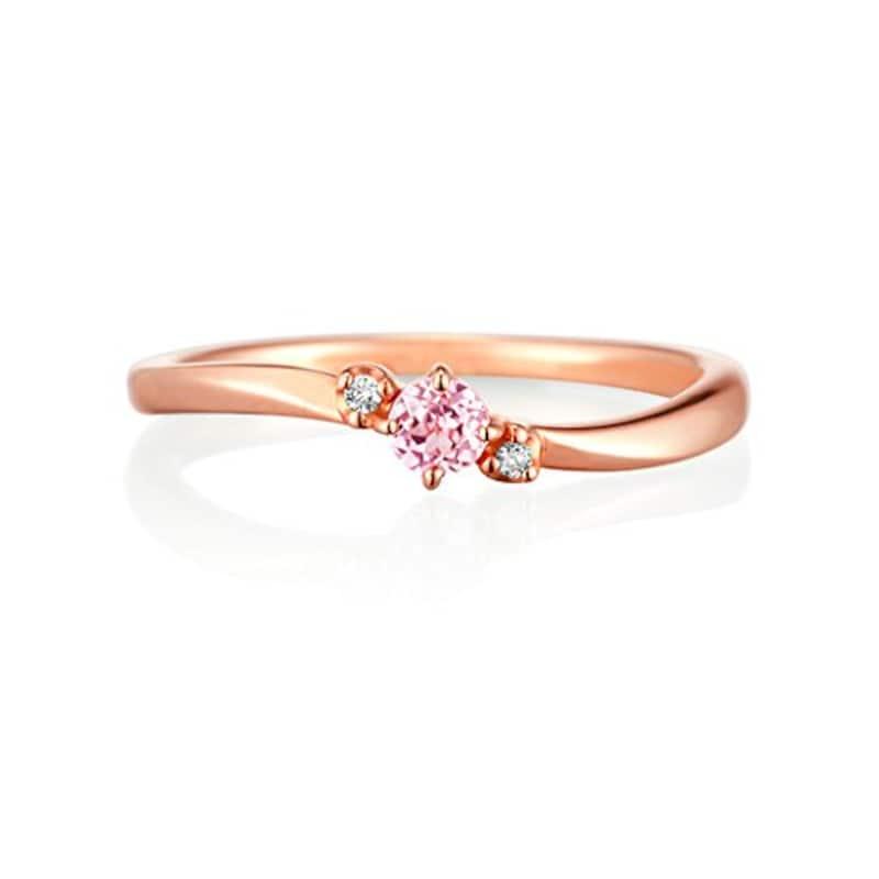 4℃ (ヨンドシー) ダイヤモンド&シンセティックサファイアK10ピンクゴールド(PG)リング