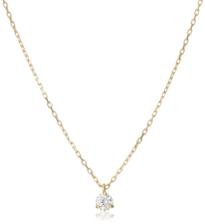 アガット,K18ダイヤモンドネックレス
