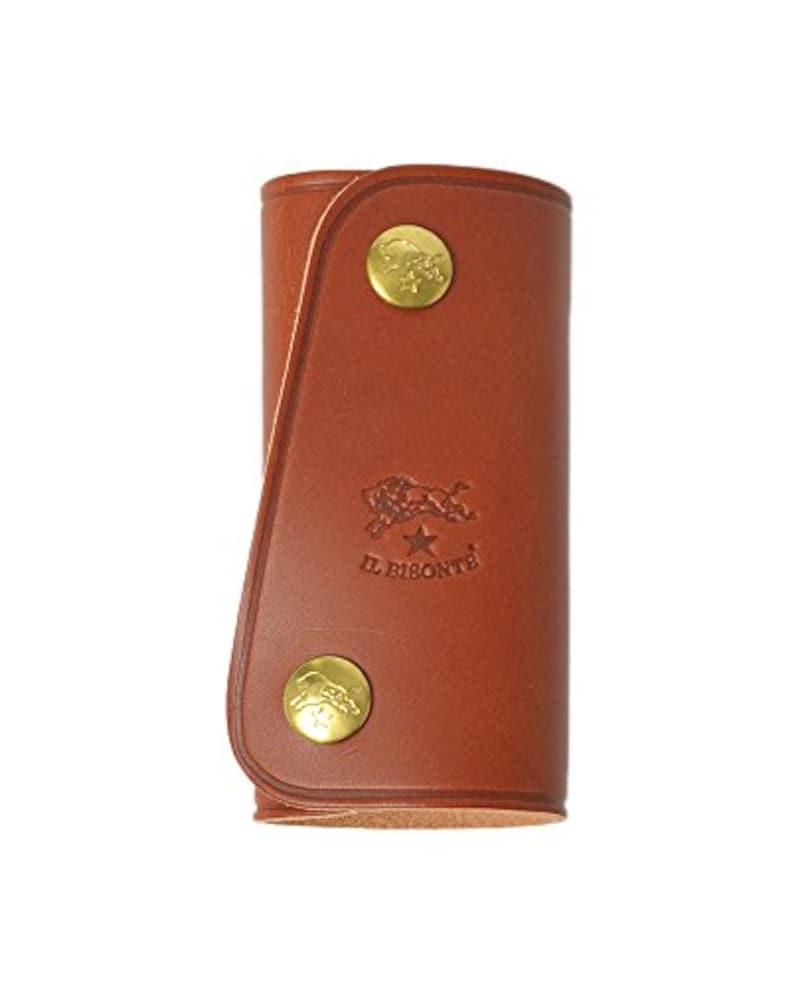 (イルビゾンテ) IL BISONTE バッファローロゴ レザー 4連 スマートキーケース・5402300090(one)(brown(col.31))