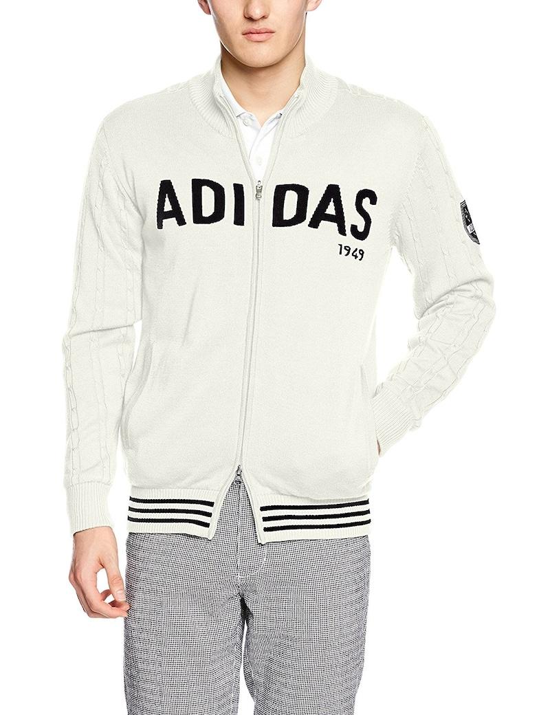(アディダスゴルフ)adidas Golf ビッグロゴL/S フルジップセーターウィズライニング