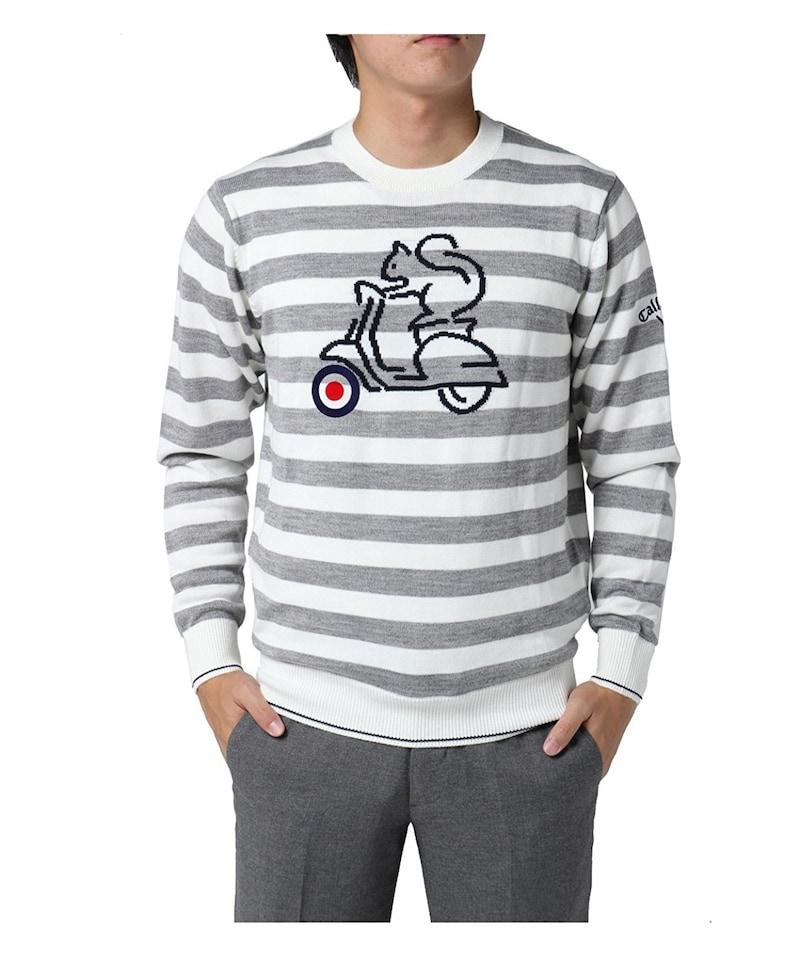 キャロウェイゴルフ Callaway Golf 中間着(セーター、トレーナー) リスプレーンボーダークルーネックセーター
