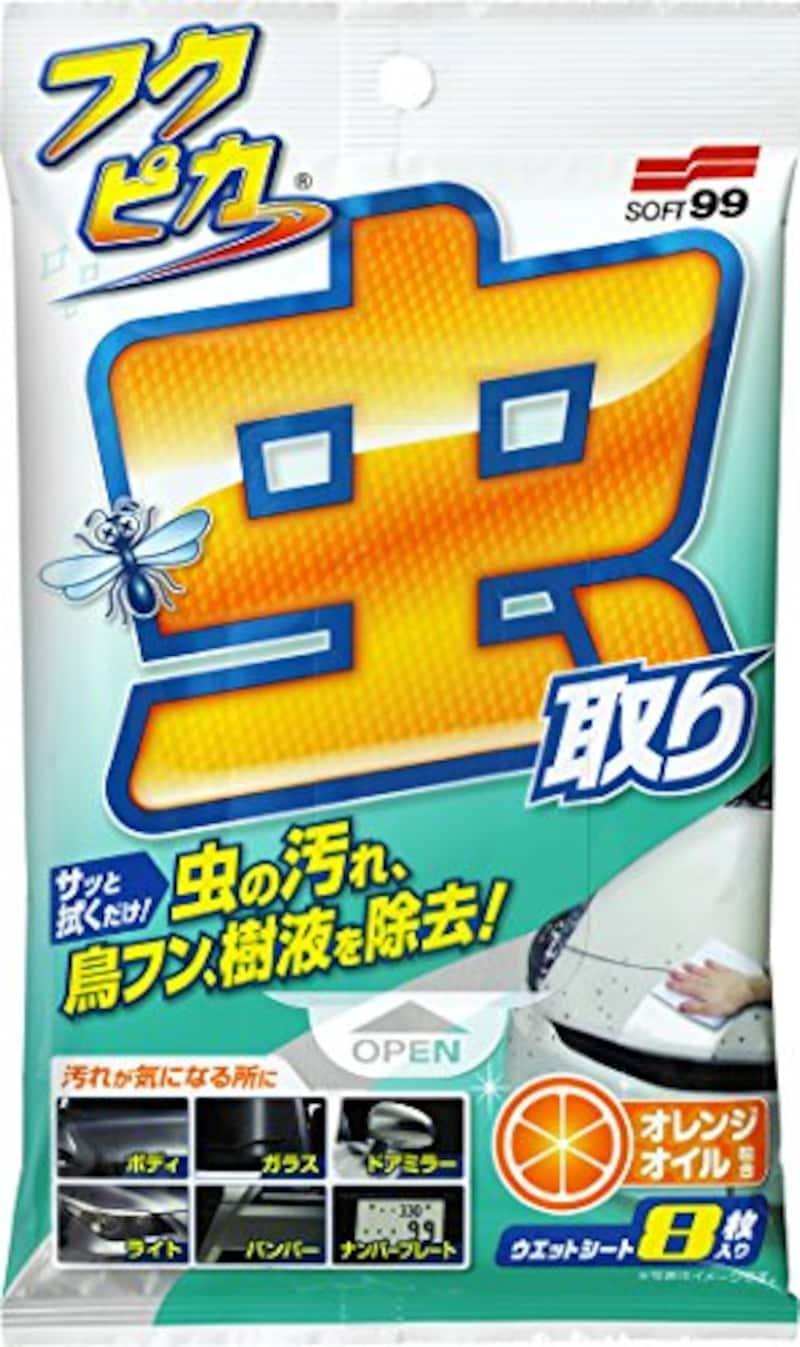 ソフト99,ボディクリーナー フクピカ 虫・フン取りシート 強化タイプ,04119