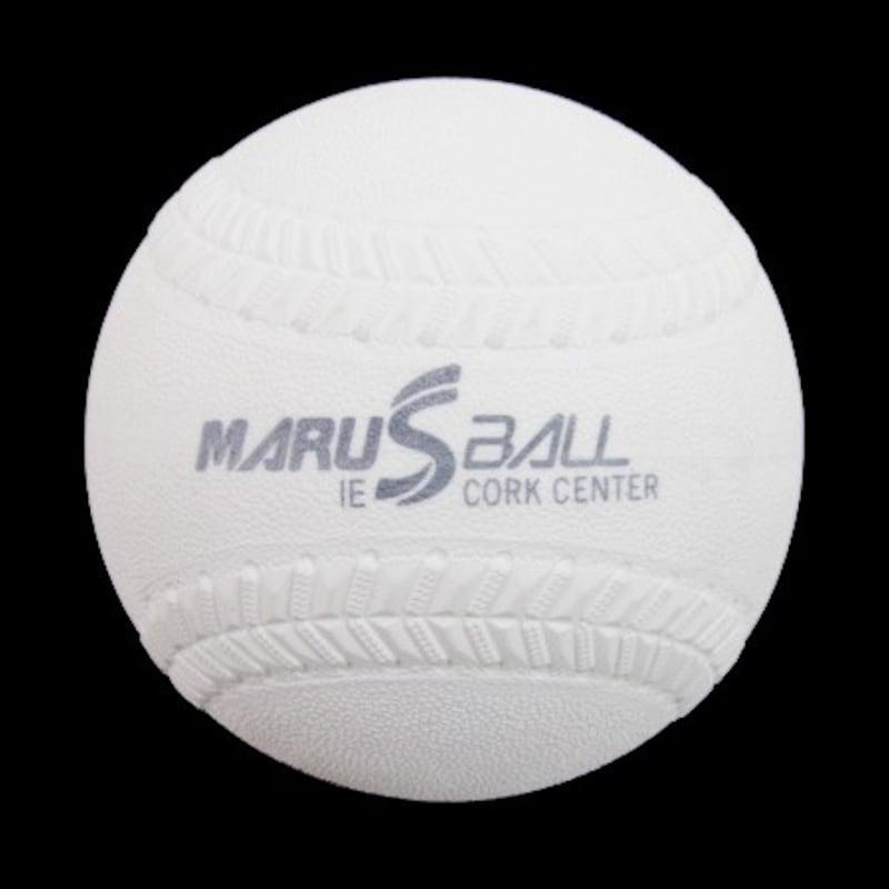 マルエス,ソフトボール(1箱-12個入り) ダイワマルエスボール検定落ち ゴム・コルク芯