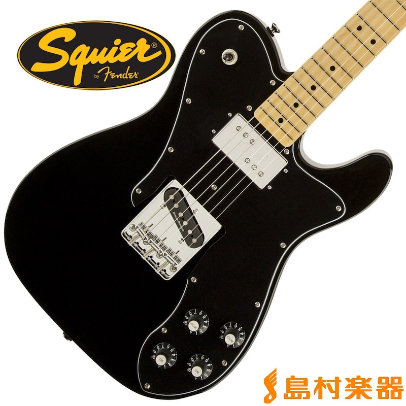 Squier by Fender Vintage Modified Telecaster Custom Maple Fingerboard BLK