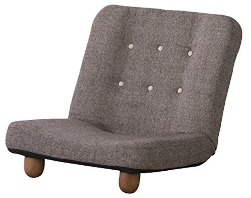 AZUMAYA 脚付き座椅子 スマート ブラウン RKC-930BR