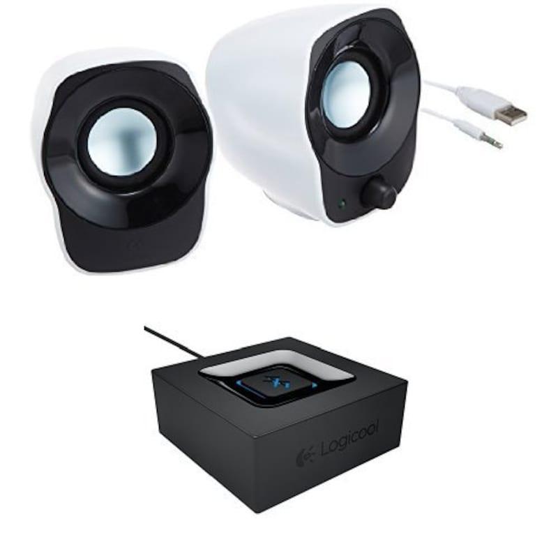 ロジクール,ステレオスピーカー&Bluetoothレシーバーセット