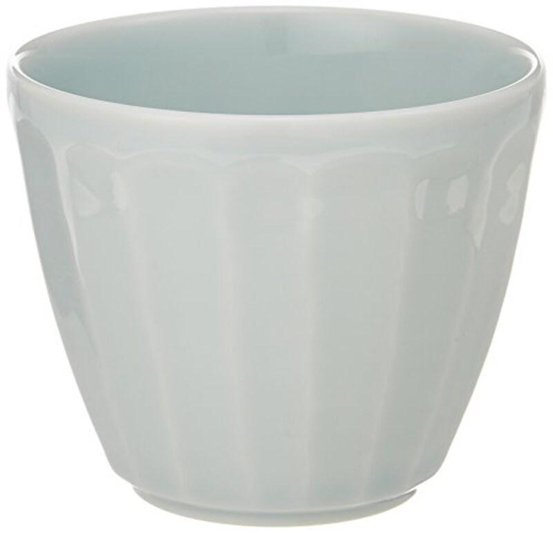 白山陶器 しのぎ 青白釉 フリーカップ