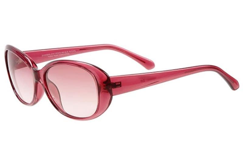 オーバル型サングラス ライトピンク