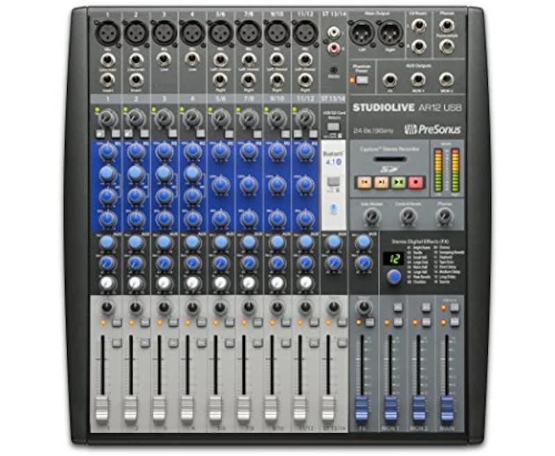 PreSonus,オーディオ・インターフェース内蔵アナログ・ミキサー StudioLive AR12 USB【国内正規品】