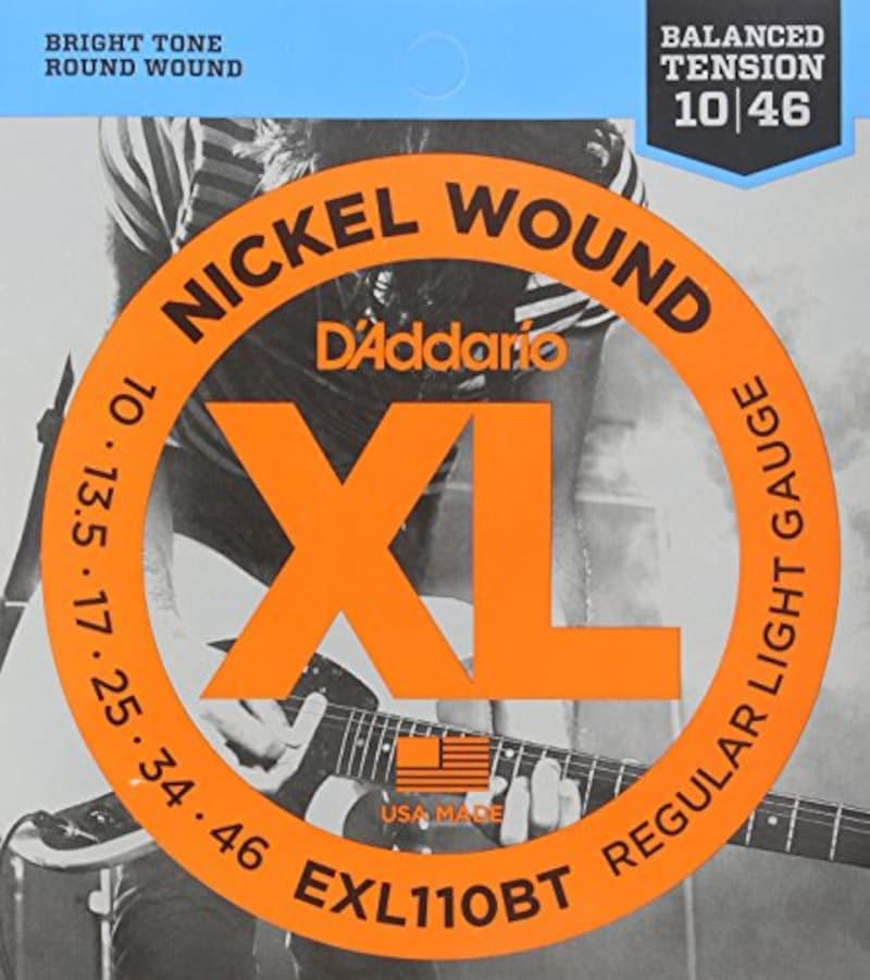 D'Addario ,エレキギター弦 ニッケル バランスドテンション Regular Light .010-.046 EXL110BT