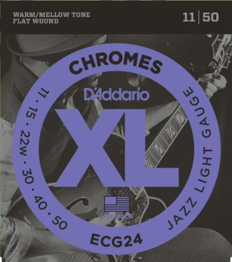 D'Addario, エレキギター弦 フラットワウンド Jazz Light .011-.050 ECG24