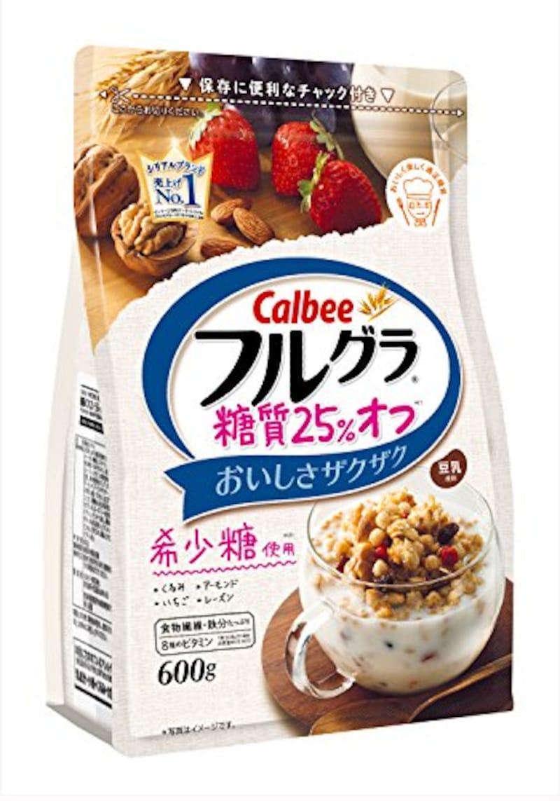 カルビー フルグラ 糖質オフ 25%