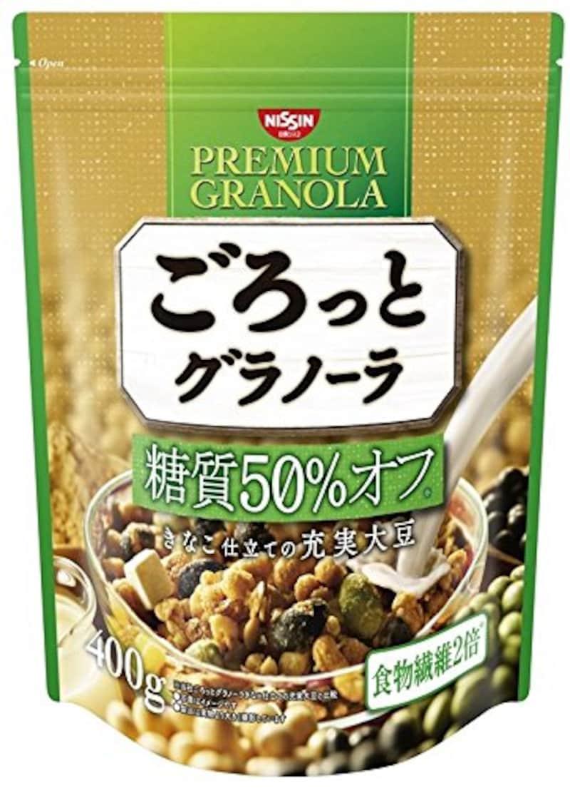 日清シスコ ごろっとグラノーラ 糖質50% オフ きなこ仕立ての充実大豆