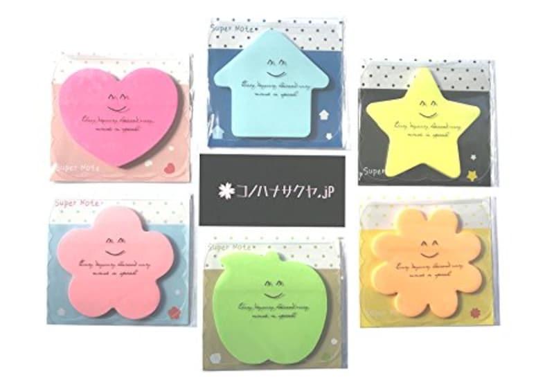 コノハナサクヤ.jp 6種類 セット かわいい 付箋