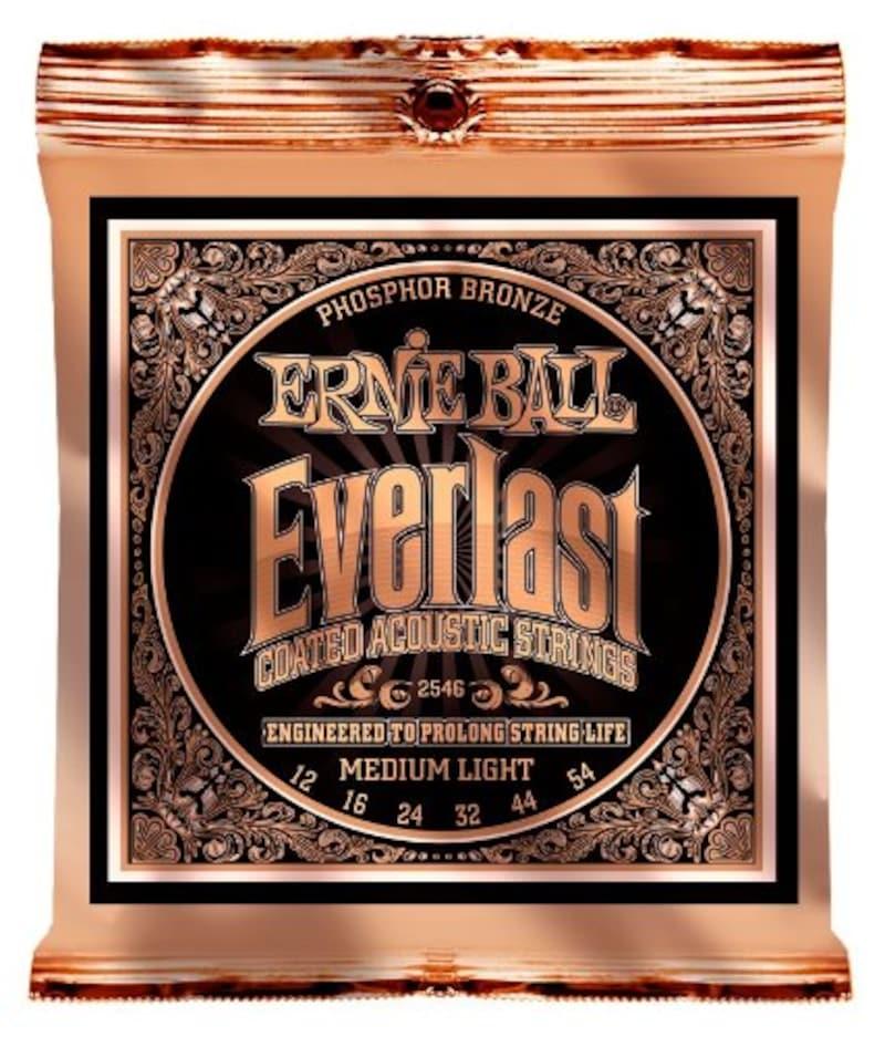 ERNIE BALL,アコースティックギター弦 エヴァーラスト フォスファーブロンズ ミディアムライト (12-54) 2546 Everlast Phosphor Bronze,2546