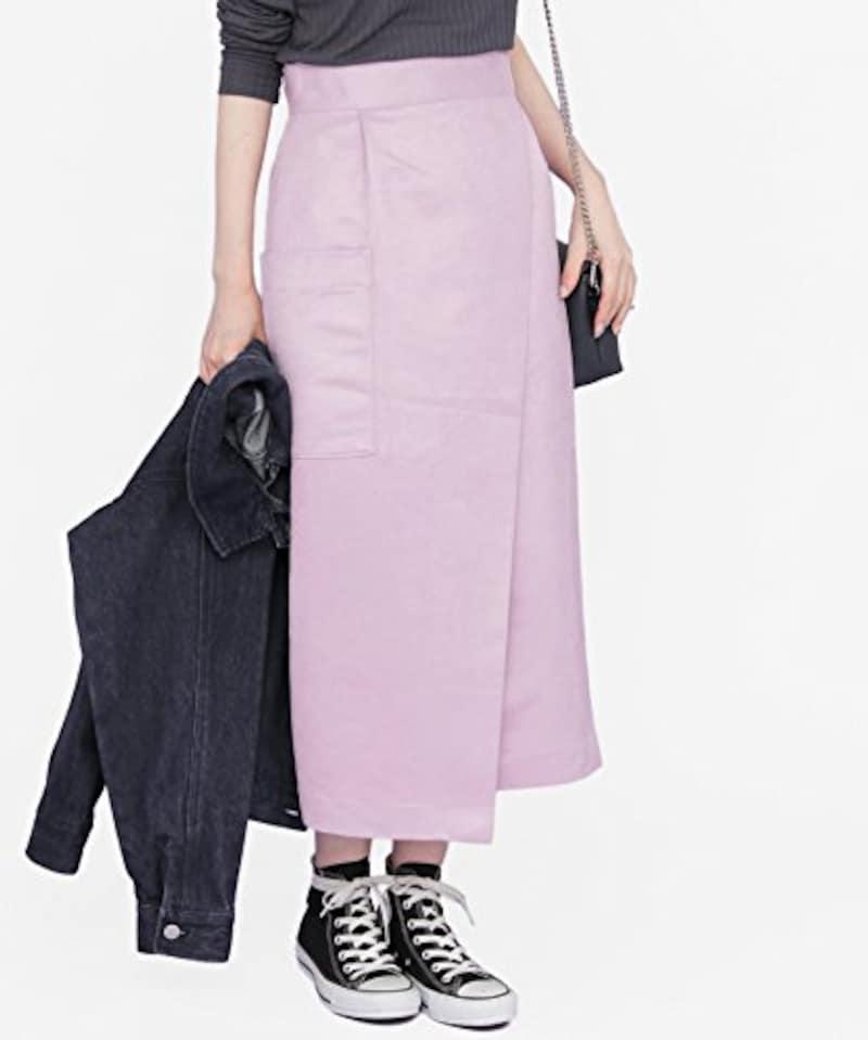 KBF カラースエードラップスカート