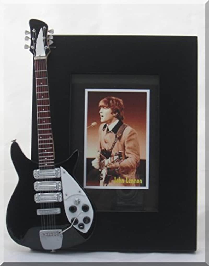 JOHN LENNON ジョン·レノンミニチュアギター額縁リッケンバッカービートルズ