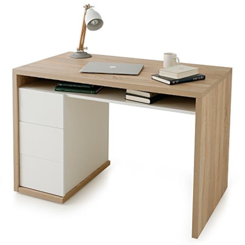 イタリア製 引き出し付きパソコンデスク