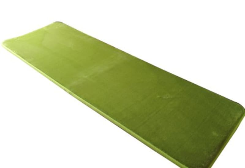 トシシミズ 低反発高反発 キッチンマット ライムグリーン