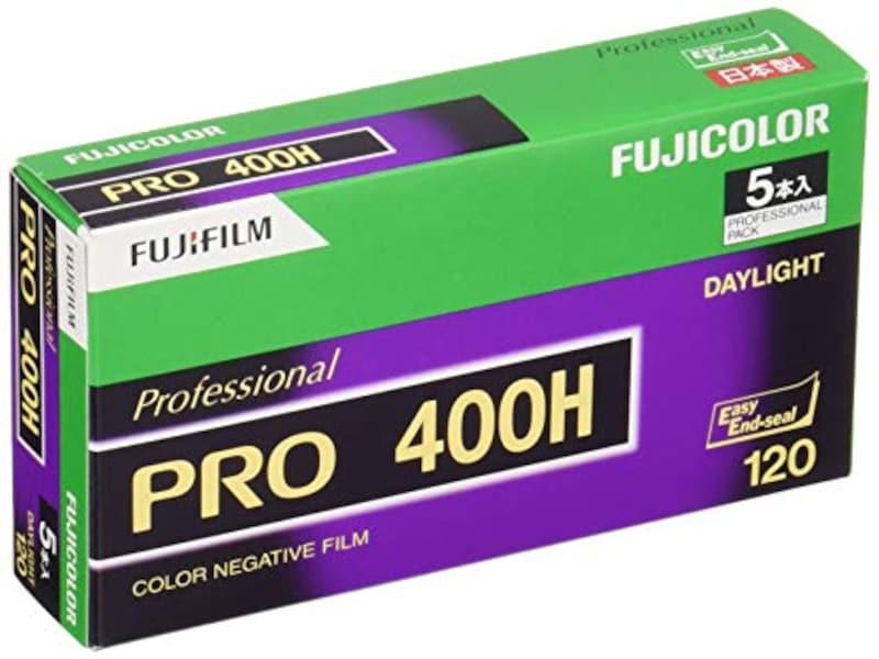 FUJIFILM, カラーネガフイルム(プロフェッショナル用) フジカラー PRO400H ブローニー 12枚 5本 120 PRO400H EP NP 12EX 5,120 PRO400H EP NP 12EX 5