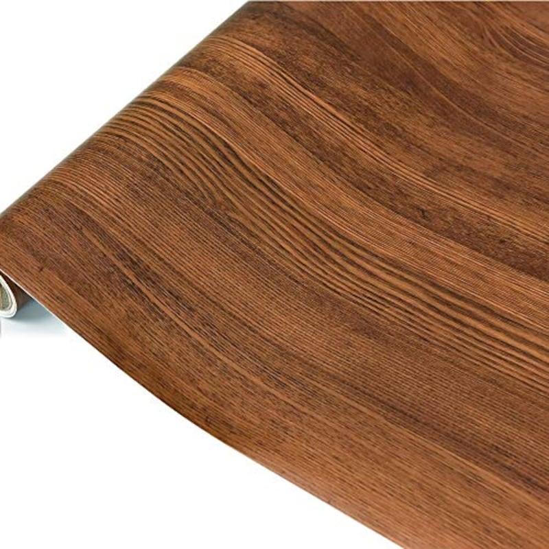貼ってはがせる壁紙 木目調