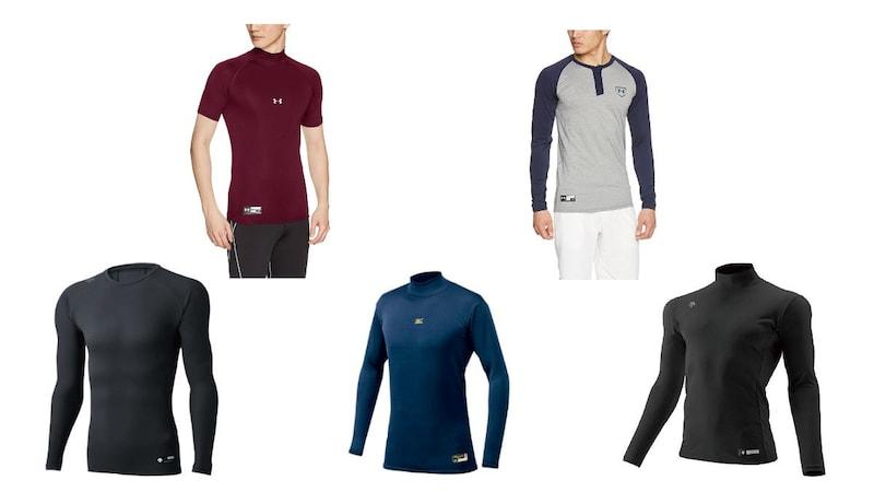 野球用アンダーシャツおすすめ10選|涼しい半袖丸首タイプや秋冬用モデルまで