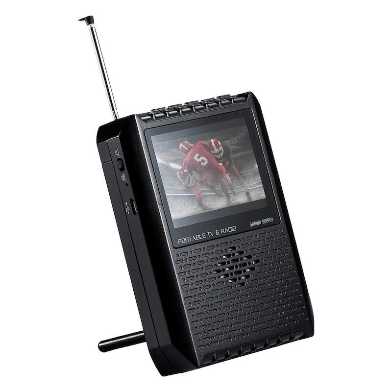 サンワサプライ,ポータブルテレビ ラジオ搭載,400-1SG005