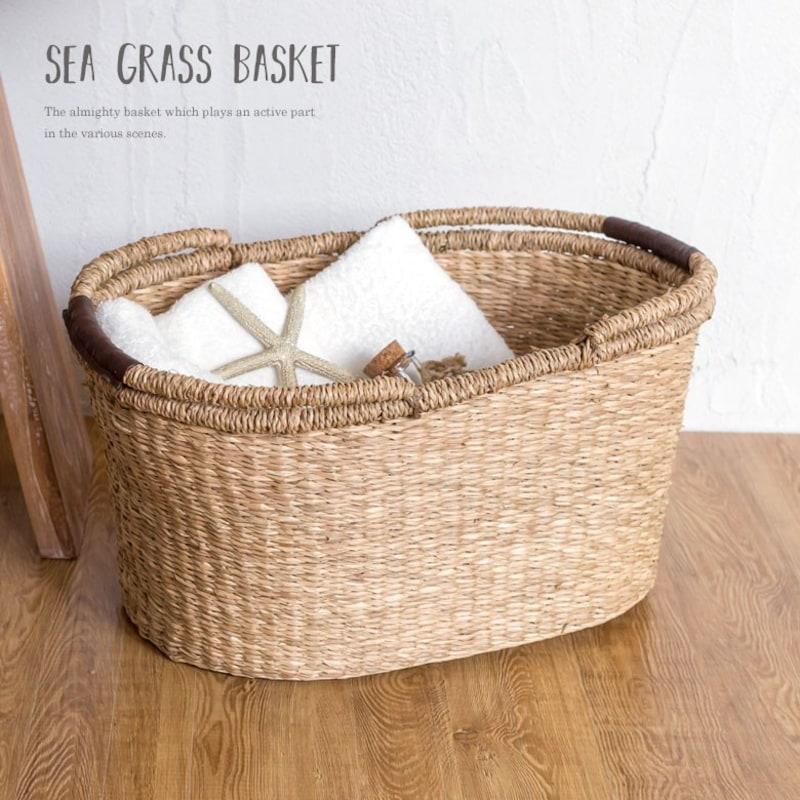 アジア工房(Asia-kobo),シーグラス製バスケット,vn50563