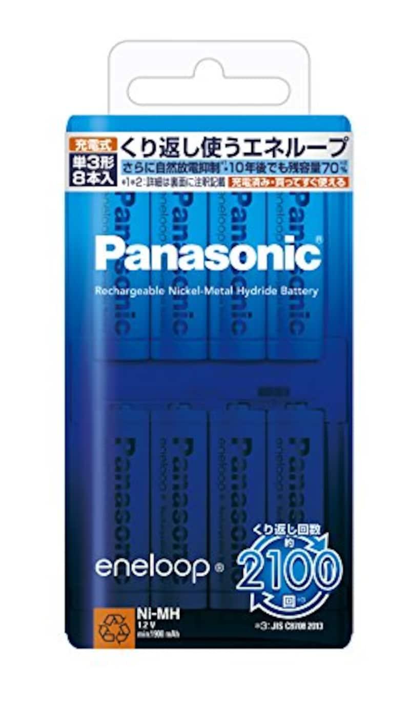 Panasonic,eneloop 単3形 8本パック,BK-3MCC/8