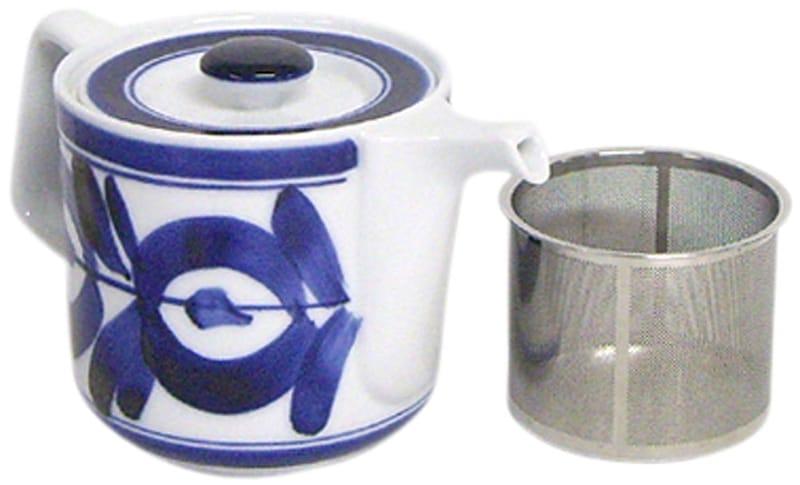西海陶器,波佐見焼 ポット マジョリカ柄,60157