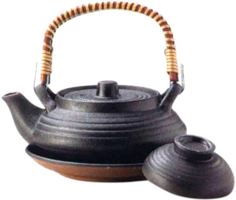マルヨシ陶器,土瓶むしセット 平形いぶし,M2219
