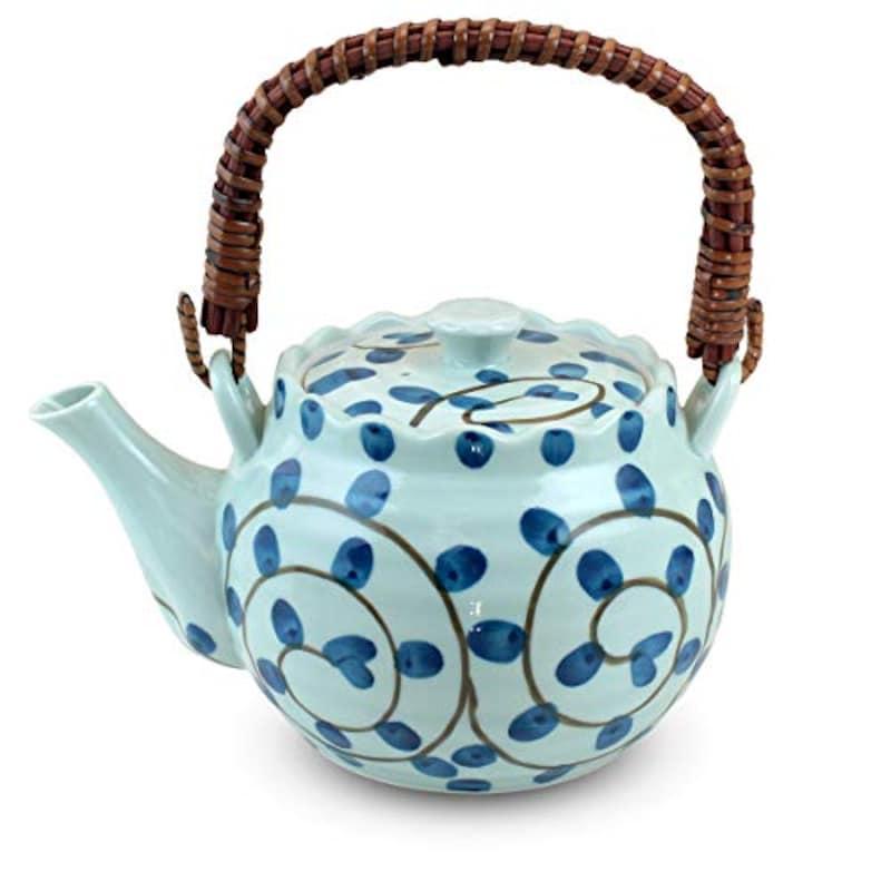 ランチャン,有田焼 タコ唐草 つる・U型茶漉付き土瓶,ama-481706