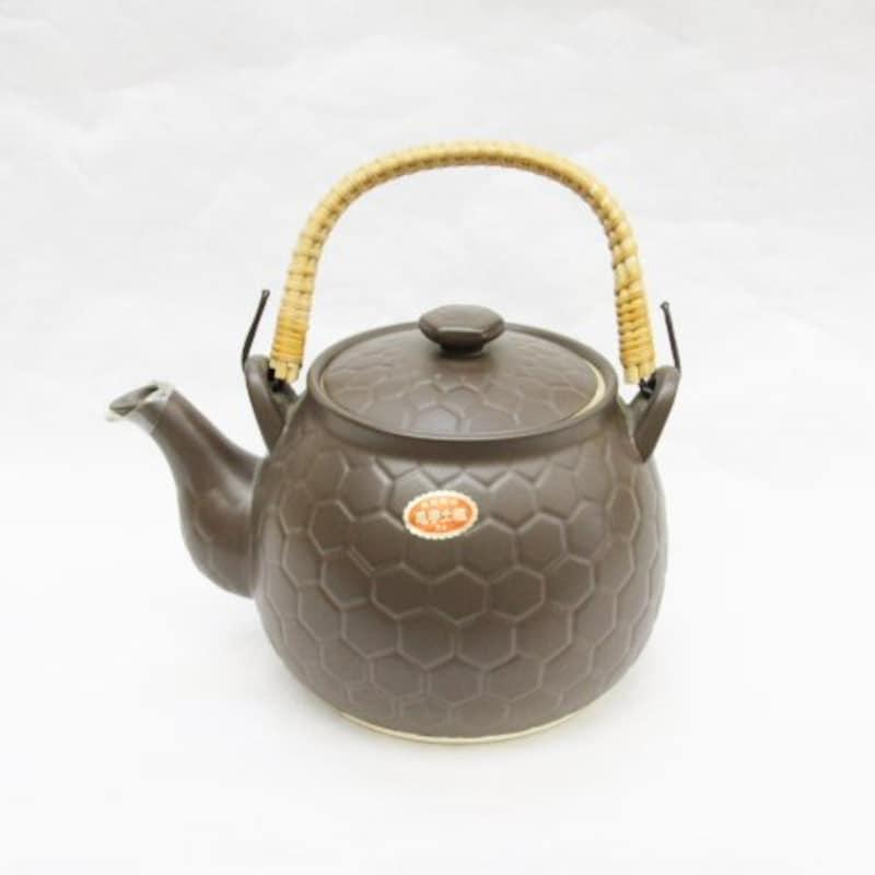 ウチダ和漢薬,煎じ用 亀甲土瓶(茶色)