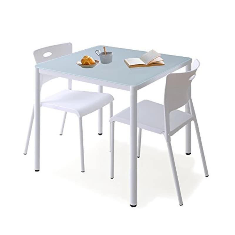 LOWYA(ロウヤ),ガラスダイニングテーブル 3点セット,f705-g1003-0010w1