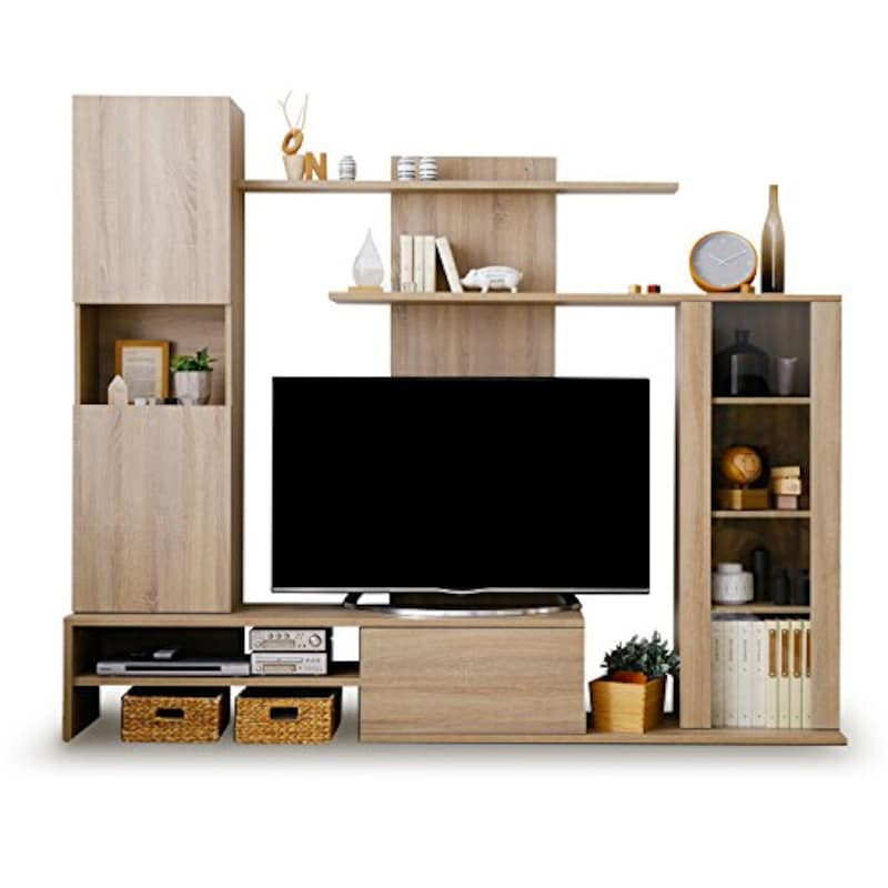 LOWYA (ロウヤ),大容量テレビ台壁面収納,f301-g1032-0010n1