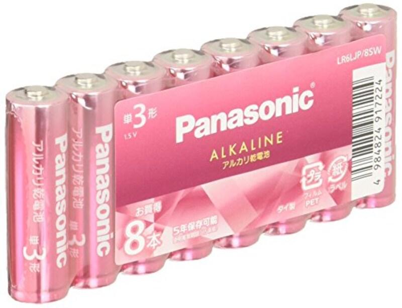 パナソニック,カラーアルカリ乾電池 ,LR6LJP/8SW