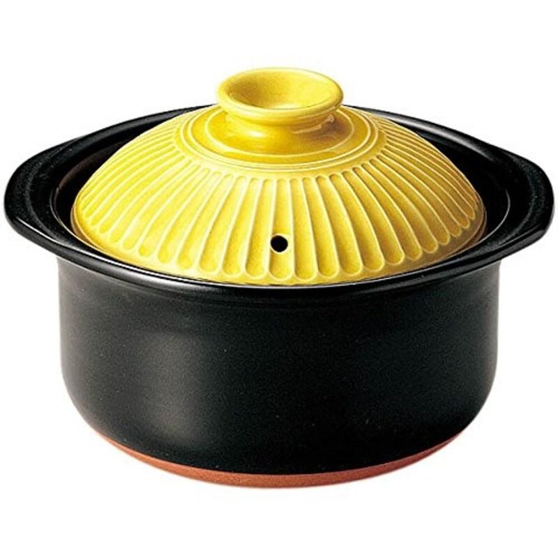 銀峯陶器,菊花ごはん土鍋,banko-ginpo-kikka-gohan