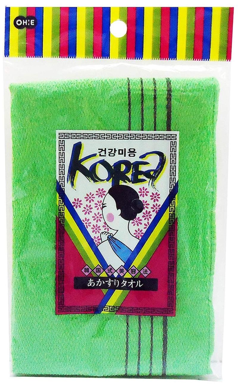 オーエ,韓国式あかすりタオル