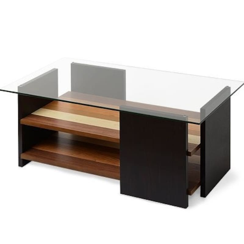 ワイエムワールド,ガラス×木製 センターテーブル,42-017
