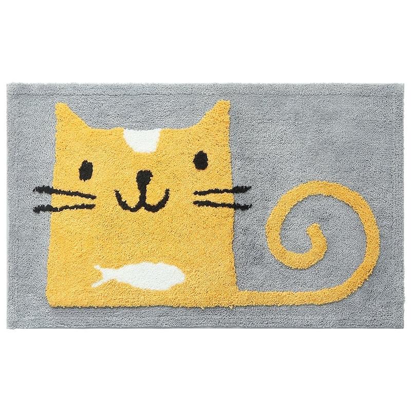SHACOS,玄関マットイエロー猫,RB0026